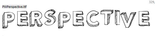 Perspective Font Keren