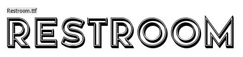 Restroom Font Keren