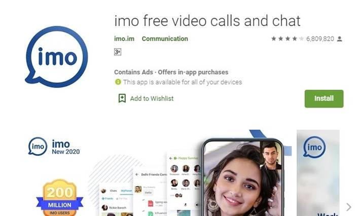 Imo bisa video call gratis