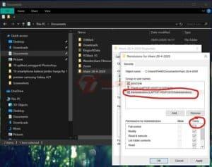 Cara mengunci folder di PC