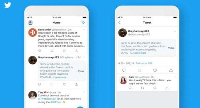 Konten Covid-19 Menyesatkan Twitter