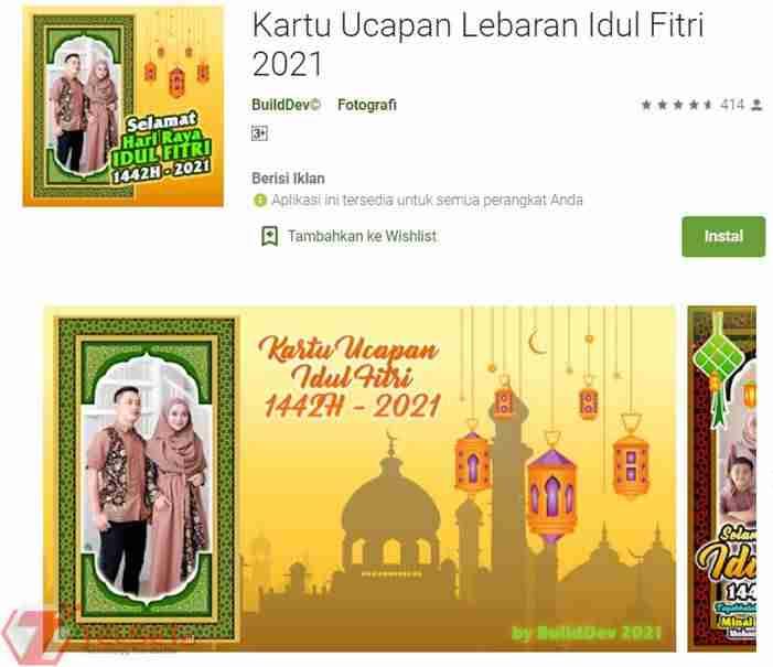 Aplikasi Kartu Ucapan Idul Fitru