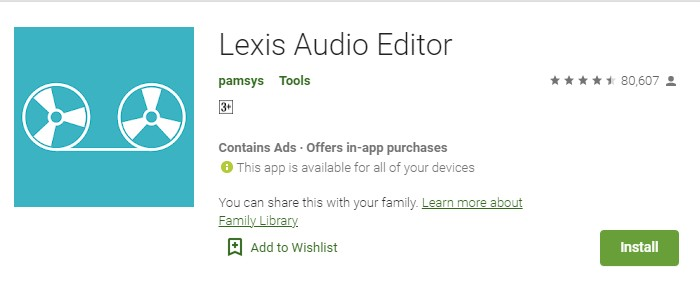Aplikasi Edit Suara Android