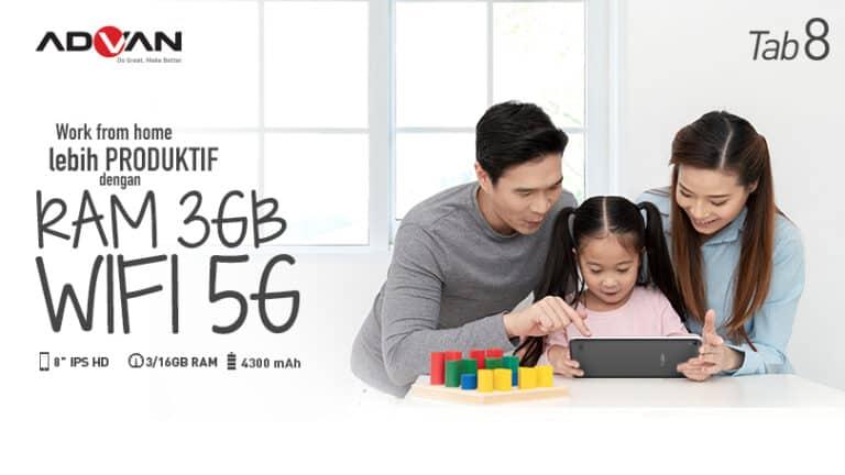 Didukung WiFi 5GHz, Advan Tab 8 Bantu Siswa untuk Belajar Online
