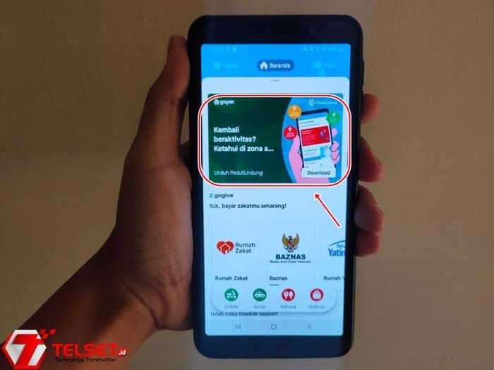 Aplikasi PeduliLindungi Gojek Telkom