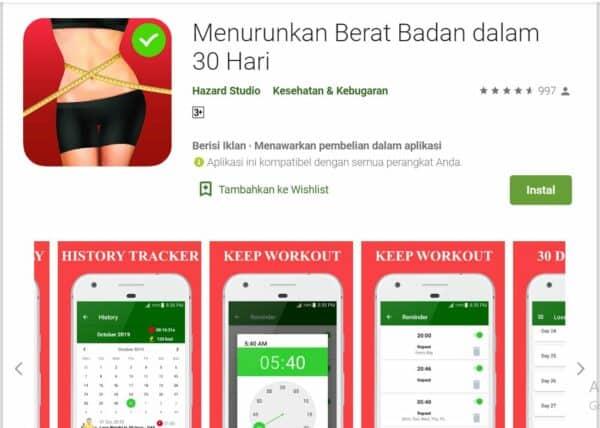 Aplikasi Program Diet 30 Hari