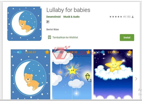 Aplikasi Pengantar tidur Android