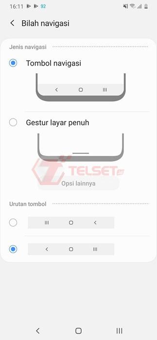 Cara Mengubah Navigasi Samsung One UI - Tombol Navigasi