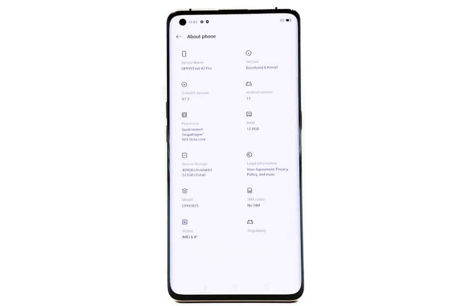 Oppo Find X2 Android 11