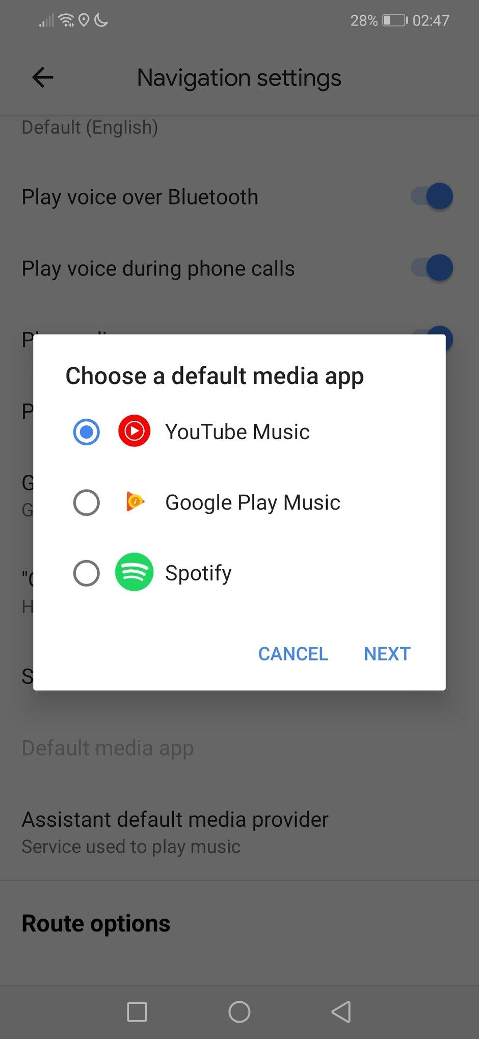 Google Maps YouTube Music