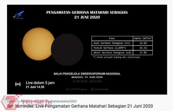 Streaming gerhana matahari cincin