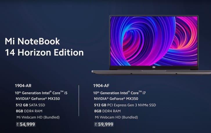 Spesifikasi dan Harga Mi NoteBook 14 Horizon edition