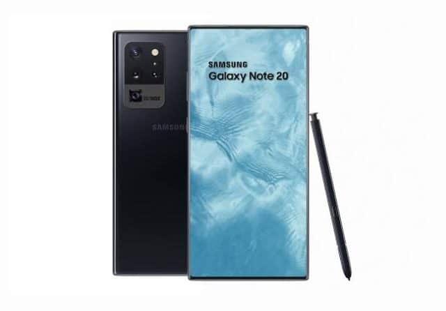 Layar Galaxy Note 20