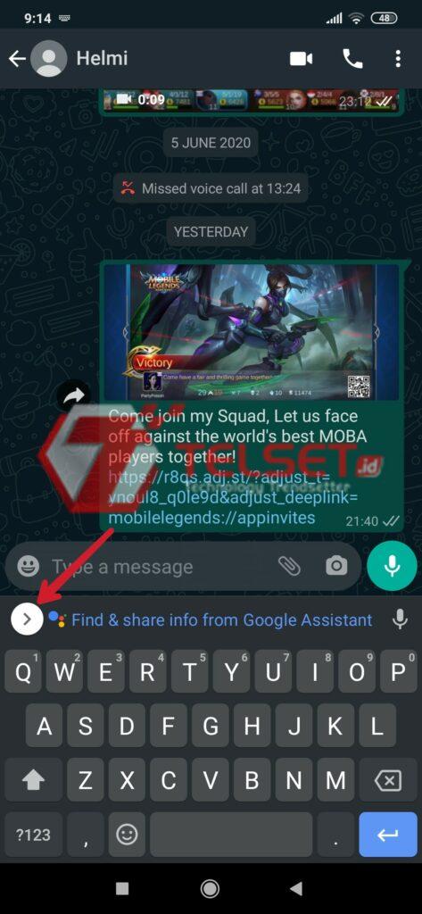 Cara translate di Google Keyboard