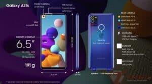 Spesifikasi Galaxy A21s