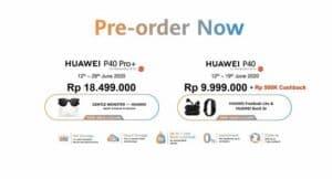 Harga Huawei P40 dan P40 Pro+ Indonesia