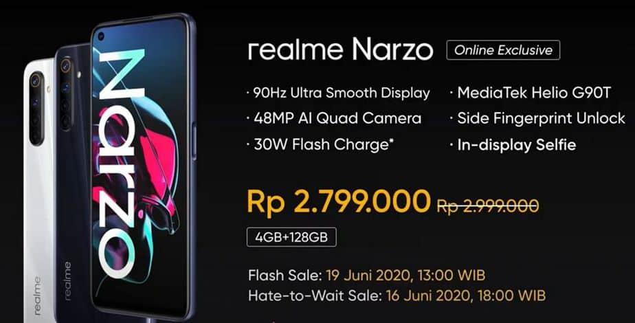harga realme narzo Indonesia