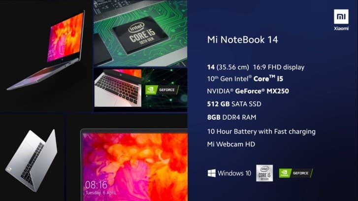 Spesifikasi Mi Notebook 14