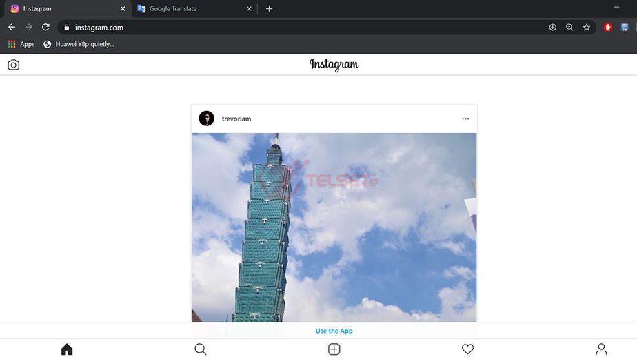Cara Upload Foto Instagram PC