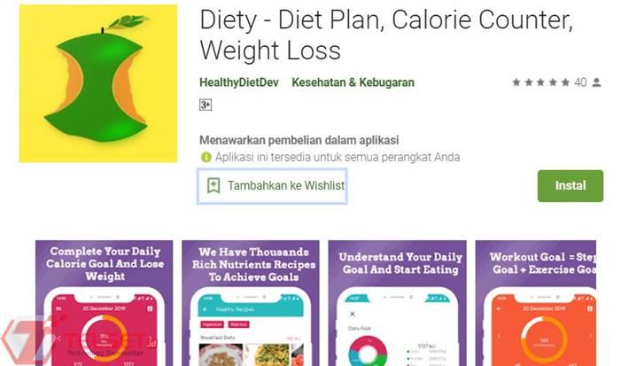 Aplikasi program diet