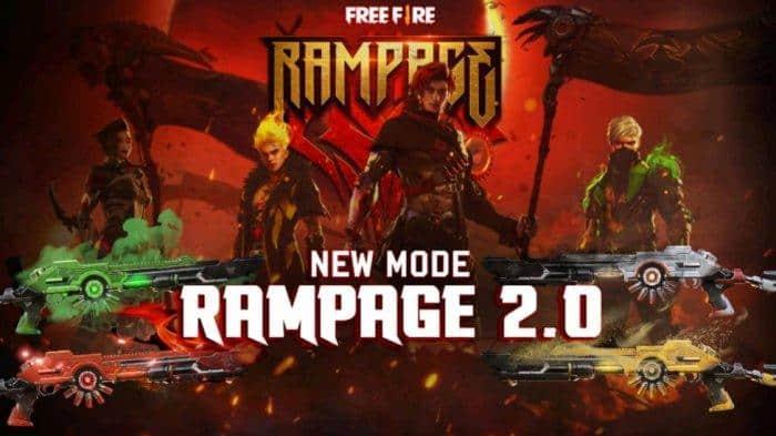 Rayakan Mode Rampage, Free Fire Bagi-bagi Skin Gratis