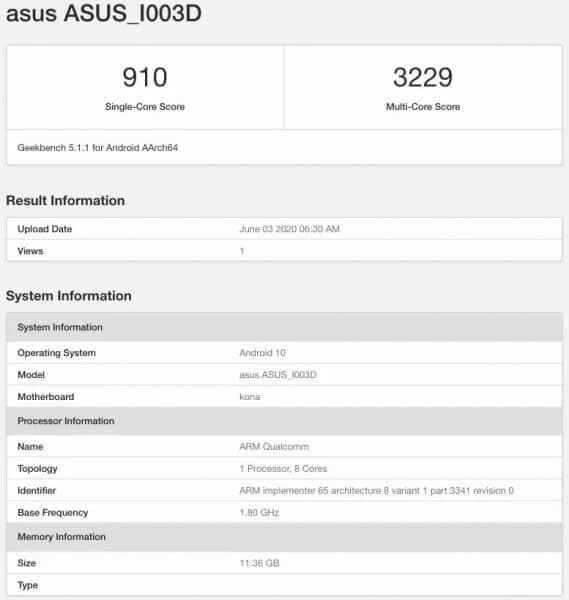 Asus ROG Phone 3 RAM