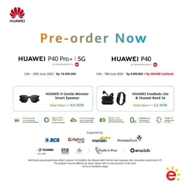 Pre-order Huawei P40 Huawei P40 Pro+