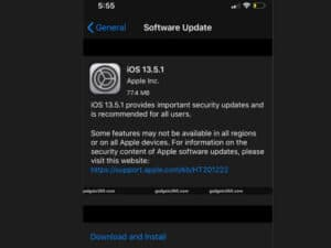 Apple jailbreak iOS 13 update OS