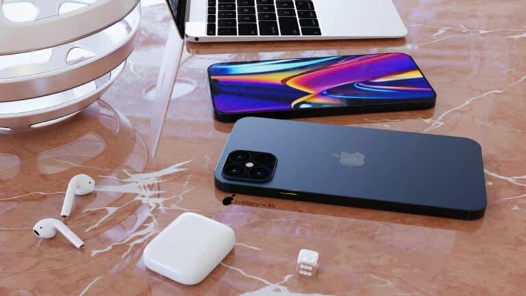 Foto Konsep iPhone 12 Navy Blue Tampak Menakjubkan