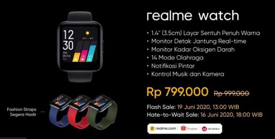 Harga Realme Watch di Indonesia