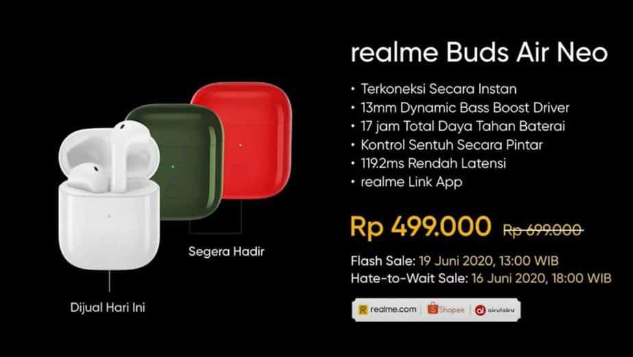 Harga realme Buds Air Neo Indonesia