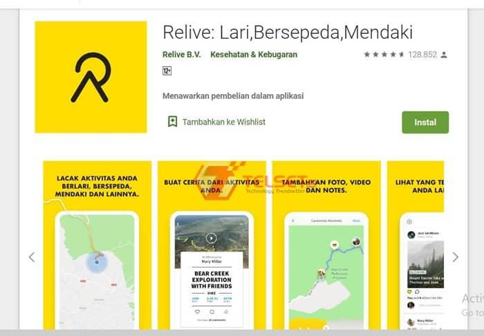 Aplikasi Android bersepeda