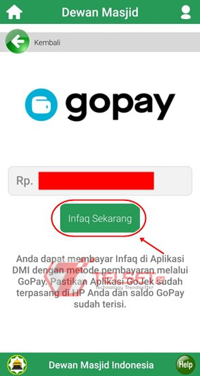Infak Digital DMI Gopay