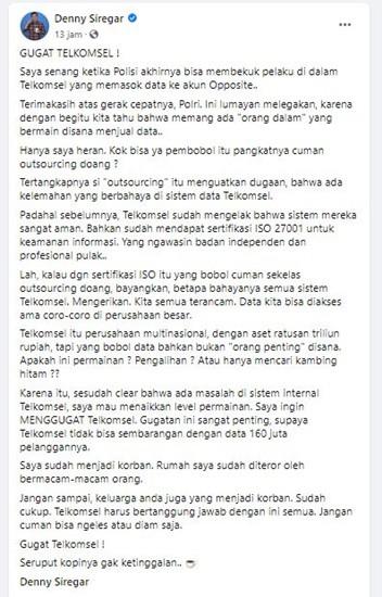 Denny Siregar Telkomsel