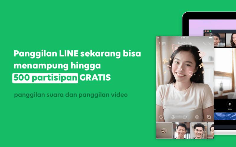 Video Call Line 500 Orang