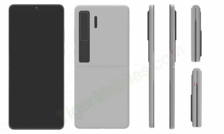 Smartphone lipat clamshell Huawei