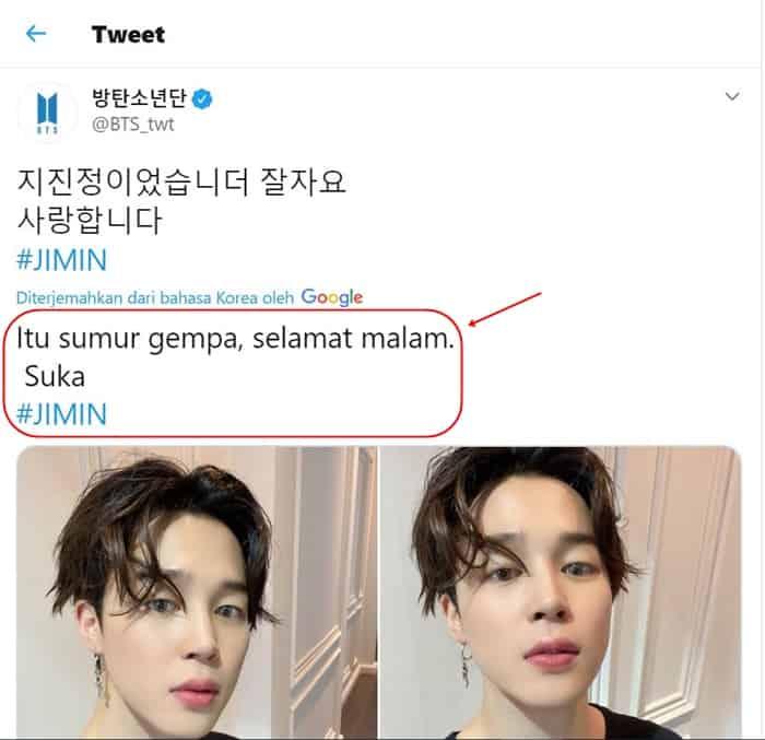 Jimin BTS Google Translate