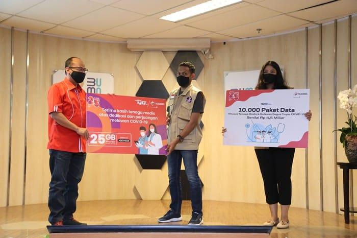 Telkomsel Bagikan Paket Internet untuk Relawan Covid-19 Indonesia