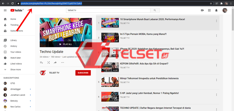 download playlist di youtube