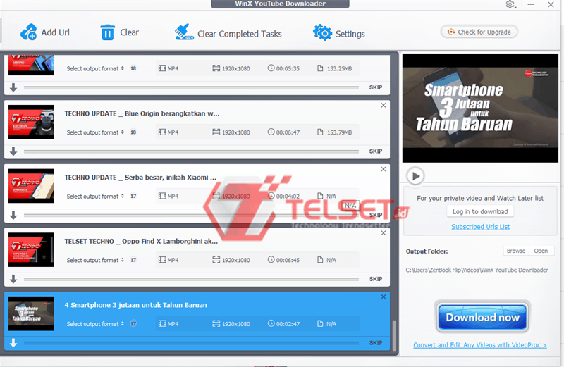 proses download playlist youtube