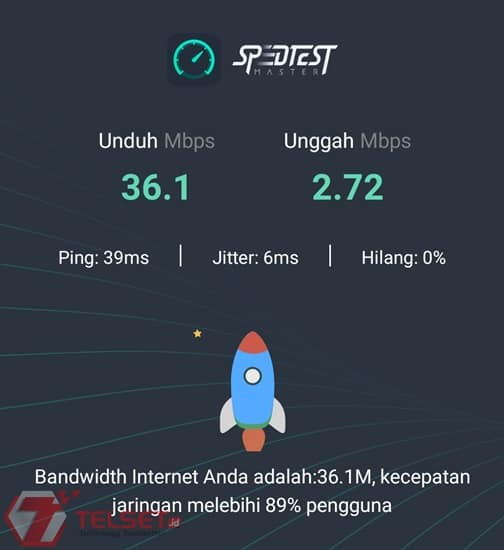 Telkomsel Orbit Speed Test