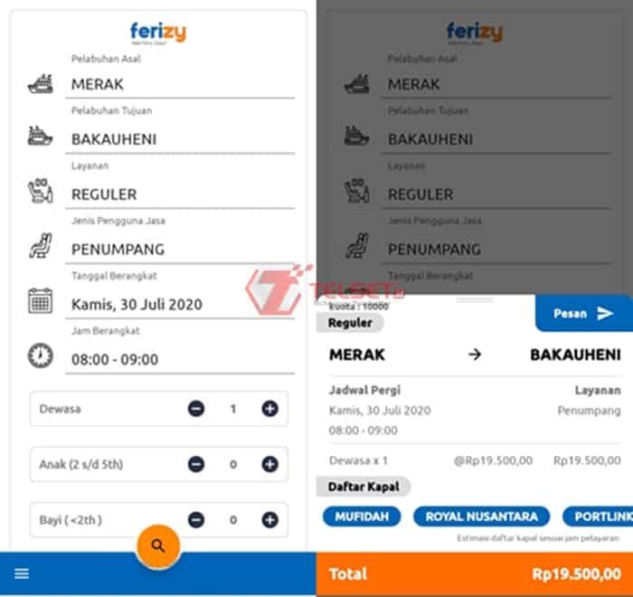 Tiket Kapal Ferry Aplikasi Ferizy