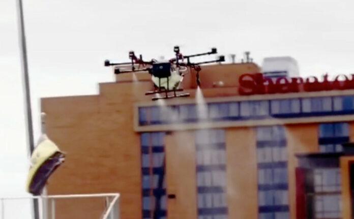 Drone sterilkan stadion