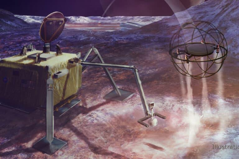 NASA Pakai Robot Uap Jelajahi Bulan Es Markas Alien