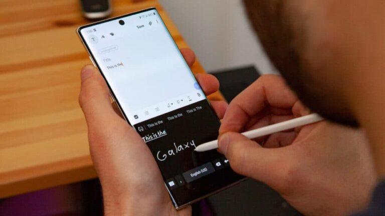 Cara Pakai Fitur Handwriting to Text di Samsung Galaxy Note 20