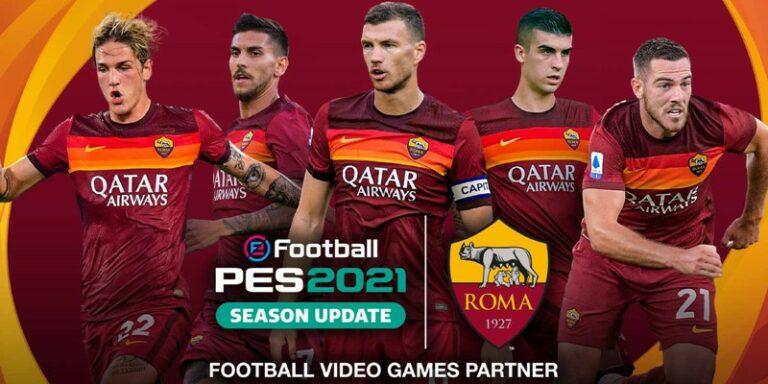 Konami Gaet AS Roma Tampil Eksklusif di PES 2021