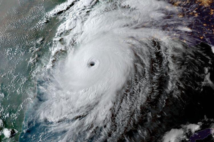 Satelit Tangkap Momen saat Badai Laura Hantam Louisiana