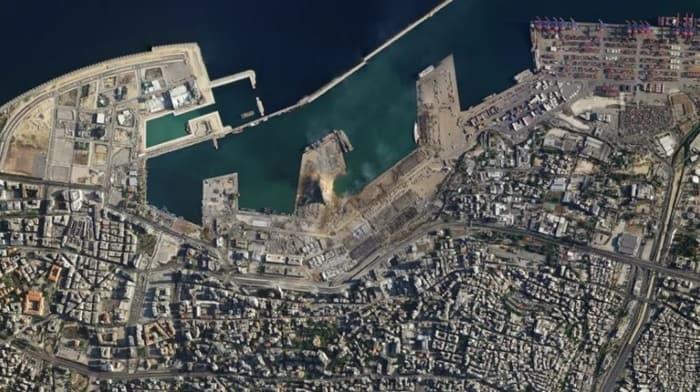 Foto Kondisi Sebelum dan Sesudah Ledakan Dahsyat di Lebanon