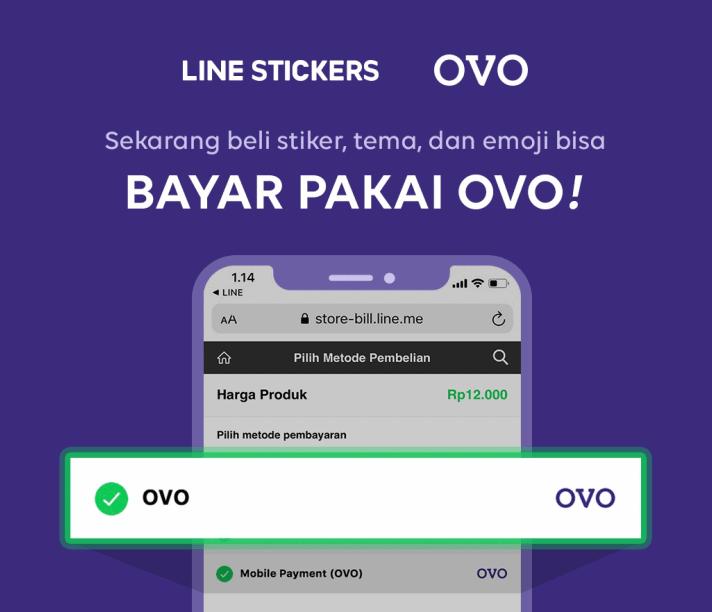 Beli Stiker Line Sekarang Bisa Bayar Pakai OVO