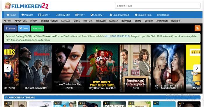 LK21, Ganool Diblokir, Ini 7 Link Nonton Film Online Gratis Terbaru